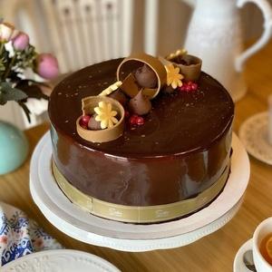 Шоколадно - банановый  торт (Круглый)