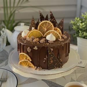 Шоколадно -  апельсиновый торт